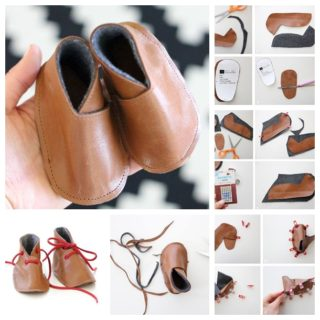 Wonderful DIY Adorable Baby Leather shoes