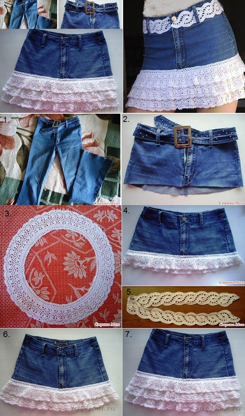 jean skirt M Wonderful DIY Stylish Denim Skirt From Old Jeans