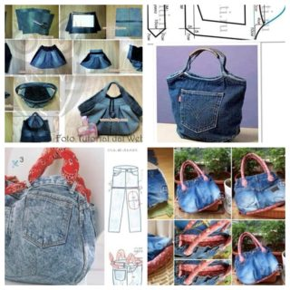 5 Fantastic Bags Made with Recycled Jeans – Free Guides