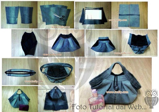 Denim Book Cover Diy ~ Fantastic bags made with recycled jeans free guides