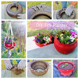 Wonderful DIY Beautiful Tire Planter
