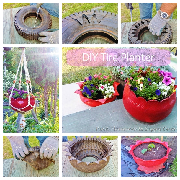 old tire flower planter F Wonderful DIY Beautiful Tire Planter