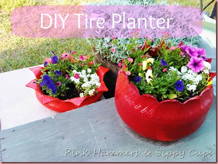 old tire flower planter18