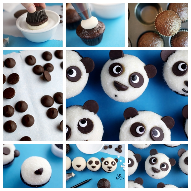 panda cupcakes F Wonderful DIY Adorable Panda Cupcakes