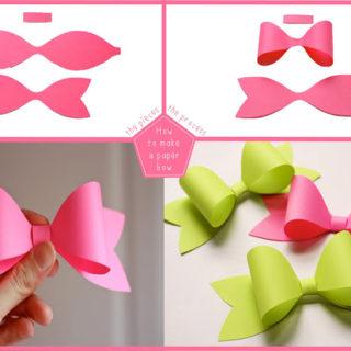 Wonderful DIY Easy Paper Bows