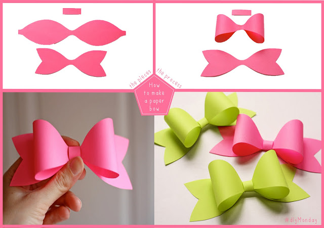 paper bow F Wonderful DIY Easy Paper Bows