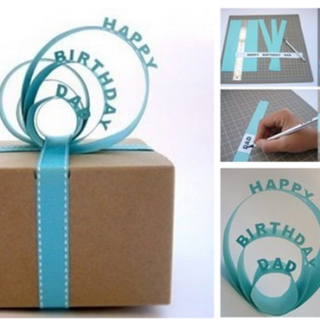 Wonderful DIY Nice Paper Sign Gift Topper