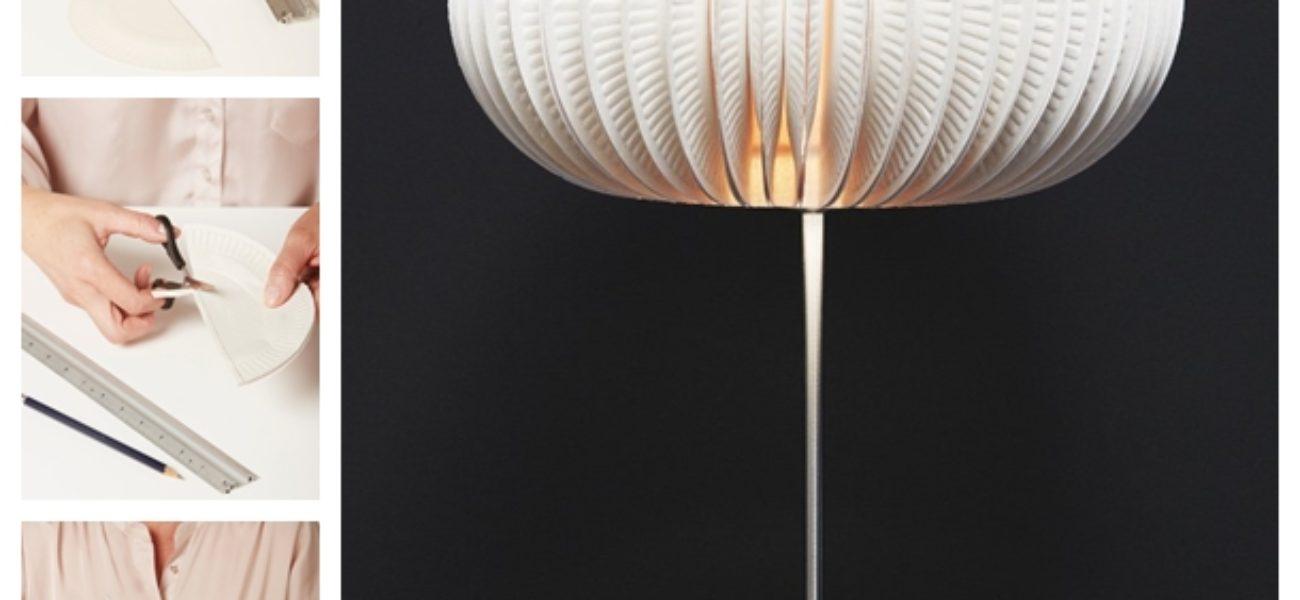 Creative DIY Paper Plate Lampshade (Tutorial)