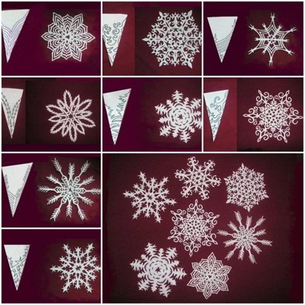 paper snowflakes pattern F Wonderful DIY Pretty Paper Snowflake Ornaments for Christmas