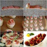 Wonderful DIY Puff Pastry And Sausage Roses