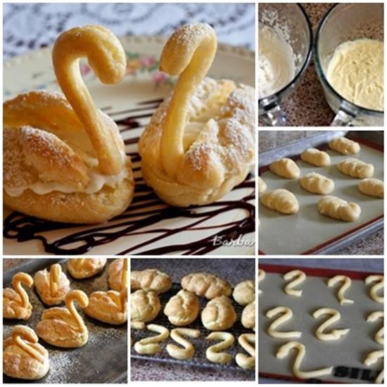 puff swan F Wonderful DIY Lovely Cream Puff Swans