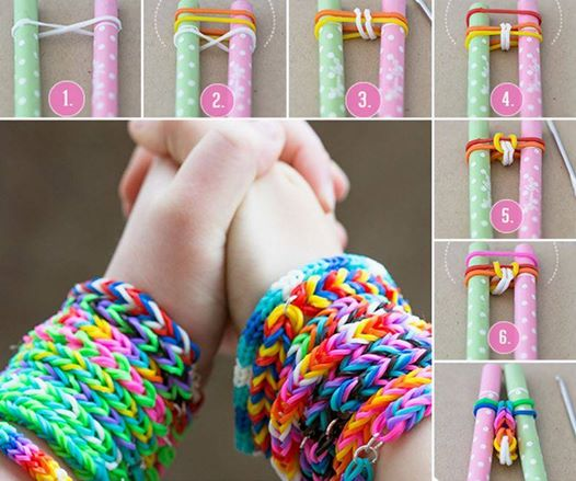 rainbow loom bracelet Simple DIY Rubber Band Bracelets   No Loom Required