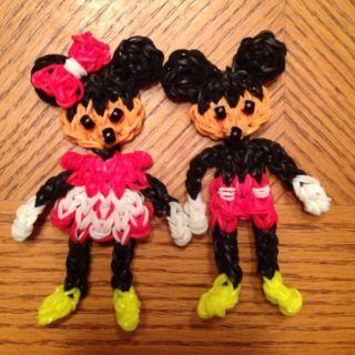 Wonderful DIY Rainbow Loom Disney Mickey And Minnie Mouse