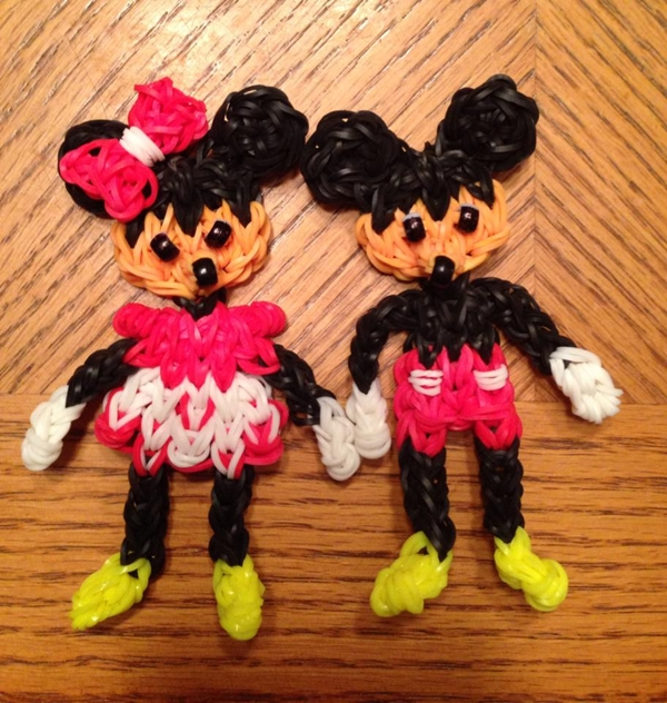rainbow loom mickey and mini Wonderful DIY Rainbow Loom Disney Mickey And Minnie Mouse