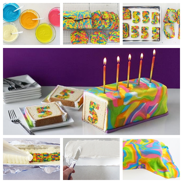 rainbow tie dye surprise cake F Wonderful DIY Rainbow Tie Dye Surprise Cake