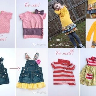 Wonderful DIY Reusing Girl's Clothes Last