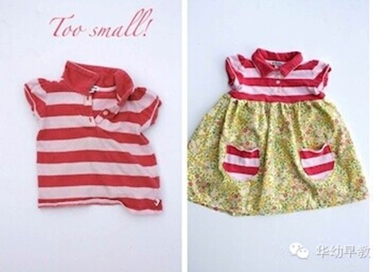 reuse little girls colthes2 Wonderful DIY Reusing Girls Clothes Last