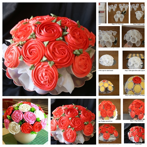 rose cupcake bouquet F Ravishing Rose Cupcake Bouquet