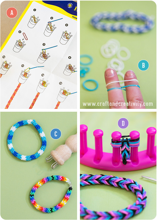 make simple feltmagnet to beautiful rainbow bracelets chain without band bracelet rubberband how crafts and rubber a loom the
