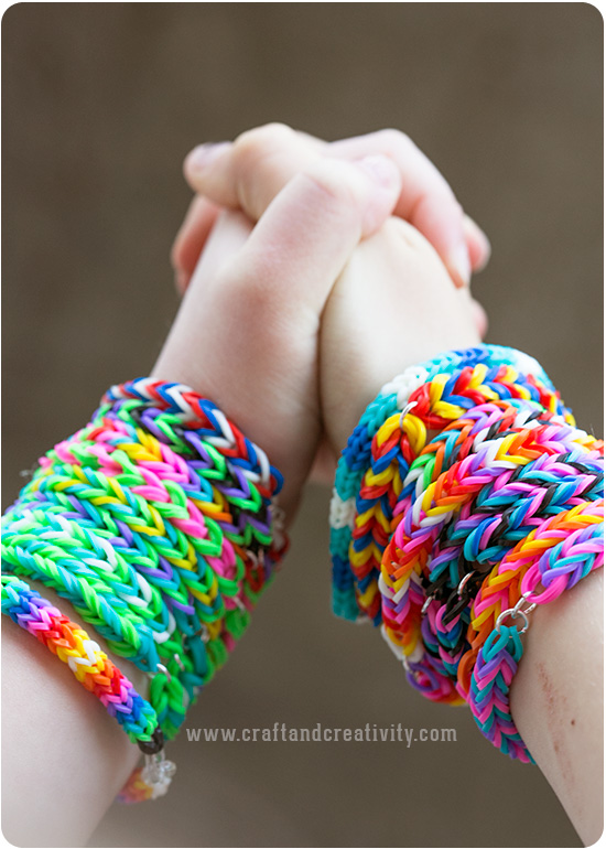 a bracelet crafts chain rainbow feltmagnet and band how loom rubber beautiful make simple bracelets without rubberband to the