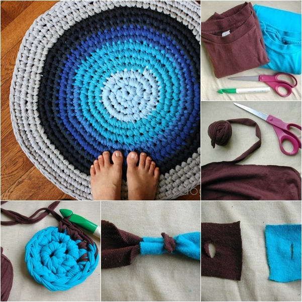 Wonderful DIY Crochet Rag Rug From Old Tshirts Enchanting Crochet Rag Rug Patterns