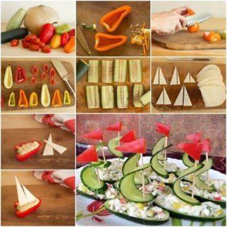 Wonderful DIY Salad boats Food Art