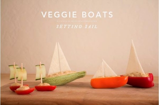salad boats0 Wonderful DIY Salad boats Food Art