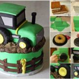 Wonderful DIY Cool  John Deere Green Tractor Cake