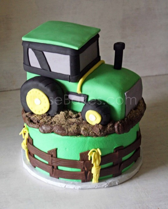 tractor cake0 Wonderful DIY Cool  John Deere Green Tractor Cake