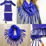 Wonderful DIY Turn T-shirt into  Cute Scarf