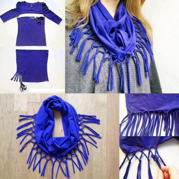 turn shirt into scarf