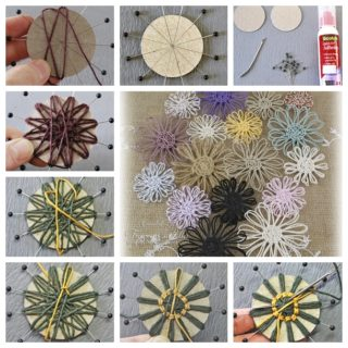 Wonderful DIY Twine Flower with Cardboard