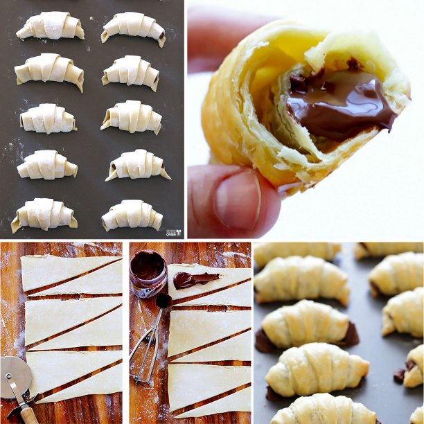 3 ingredient Nutella Croissants F  Wonderful DIY Quick Nutella Stuffed Croissants