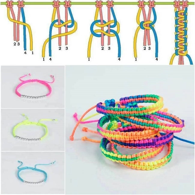 Amazing Braided Bracelet DIY Wonderful DIY Colorful Stylish Bracelet