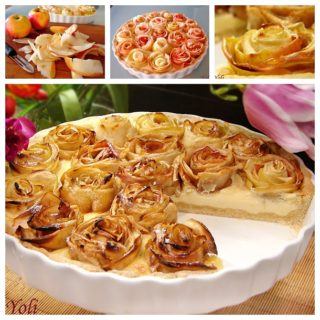 Wonderful DIY Amazing Apple pie of roses