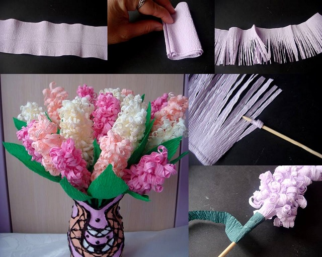Beautiful paper hyacinth flowers tutorial view in gallery beautiful paper hyacinths flowers f beautiful paper hyacinth flowers mightylinksfo