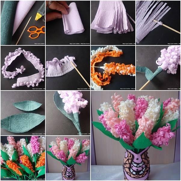 Beautiful Paper Hyacinth Flowers Tutorial