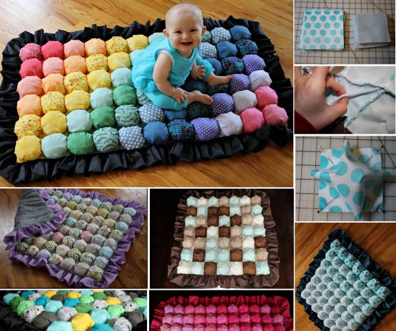 Bubble Quilt  Wonderful DIY Colorful Baby Bubble Quilt