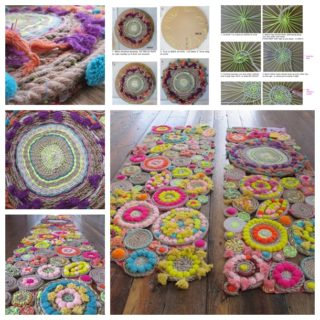 Wonderful DIY Cardboard Woven Rope Tapestries