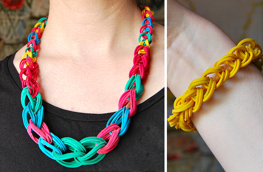 Chain Necklace and Bracelet with rubber band0  Wonderful DIY Chain Necklace and Bracelet with rubber band