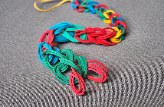 Chain Necklace and Bracelet with rubber band4