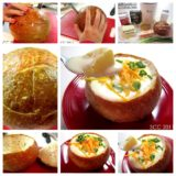 Wonderful DIY Cheesy Potato Soup Served in a Bread Bowl