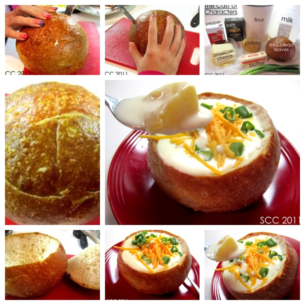 Cheesy Potato Soup in Bread Bowls F Wonderful DIY Delicious Cheesy Vegetable Tian