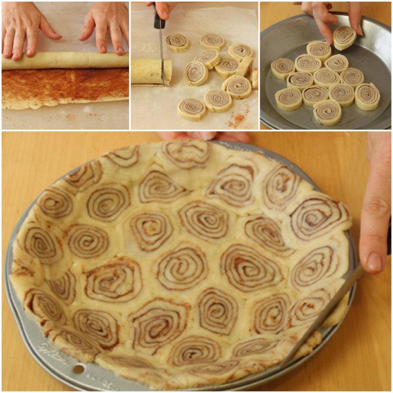 Cinnamon Roll Pie Crust  Wonderful DIY Cinnamon Roll Pie Crust