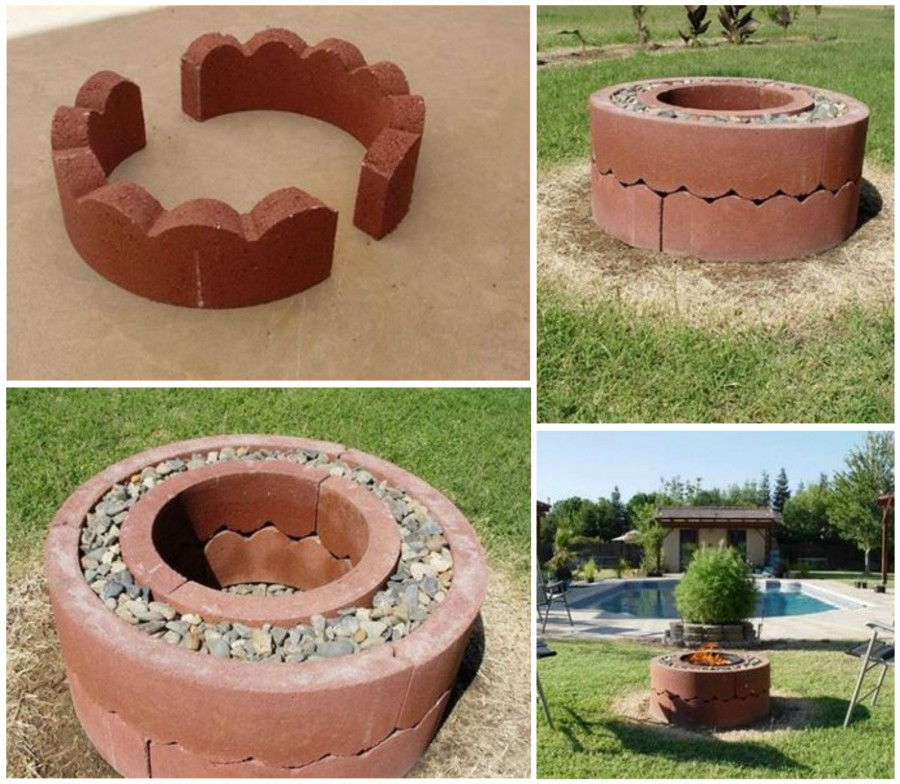Concrete Tree Ring Fire Pit wonderfuldiy Wonderful DIY Easy Fire Pit In Backyard