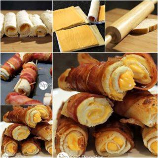 Wonderful DIY Crispy Bacon Grilled Cheese Roll Ups