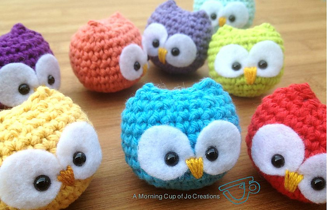Crochet Baby Owl Ornaments
