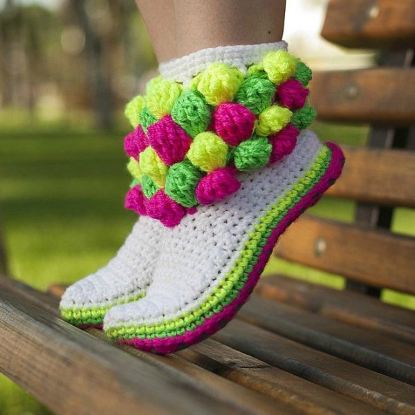 Crochet Boot Slippers 6 Cute and Comfortable Crochet Boot Slippers