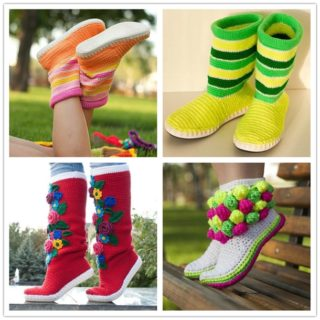 Cute and Comfortable Crochet Boot Slippers