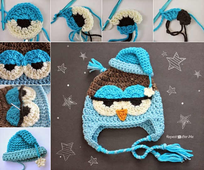 Crochet Drowsy Owl Hat F Wonderful DIY Adorable Crochet Owl Hat